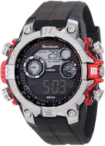 Armitron Sport Men's 40/8251RED Digital (Armitron Stainless Steel Bands)