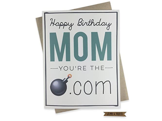 Amazon Birthday Greeting Card For Mom With Optional