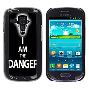 - Funny Kidding - - Hard Plastic Protective Aluminum Back Case Skin Cover FOR Samsung Galaxy S3 Mini I8190 Queen Pattern