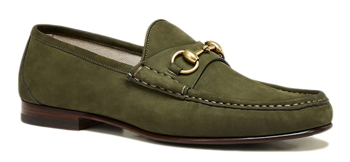 4cf210bb85c Amazon.com  Gucci Men s 1953 Horsebit Suede Loafer