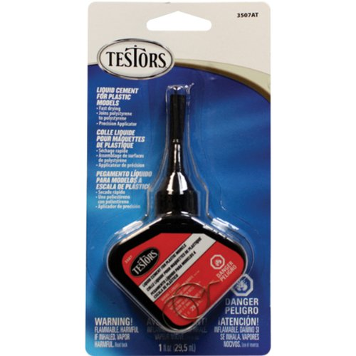 Model Glue - Testors 3507AT Liquid Cement for Plastic Models, 1-Ounce