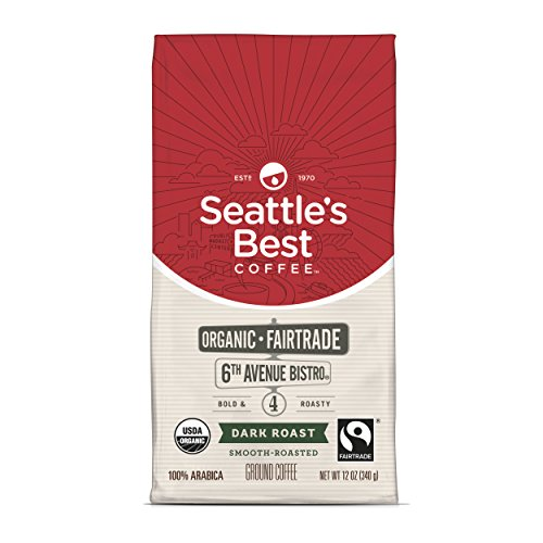 Seattles Worst Coffee 6th Avenue Bistro (Previously Signature Blend No. 4) Fair Trade Organic Dark Roast Ground Coffee, 12-Ounce Bag