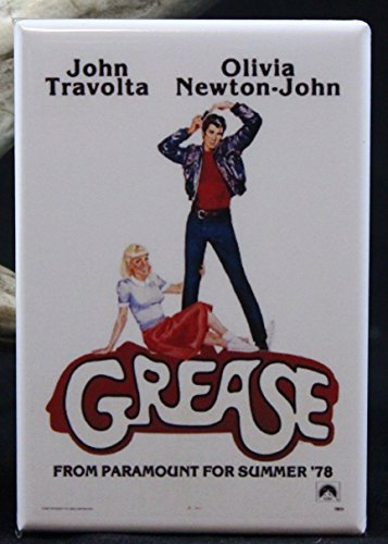 Grease Movie Poster - Refrigerator Magnet.