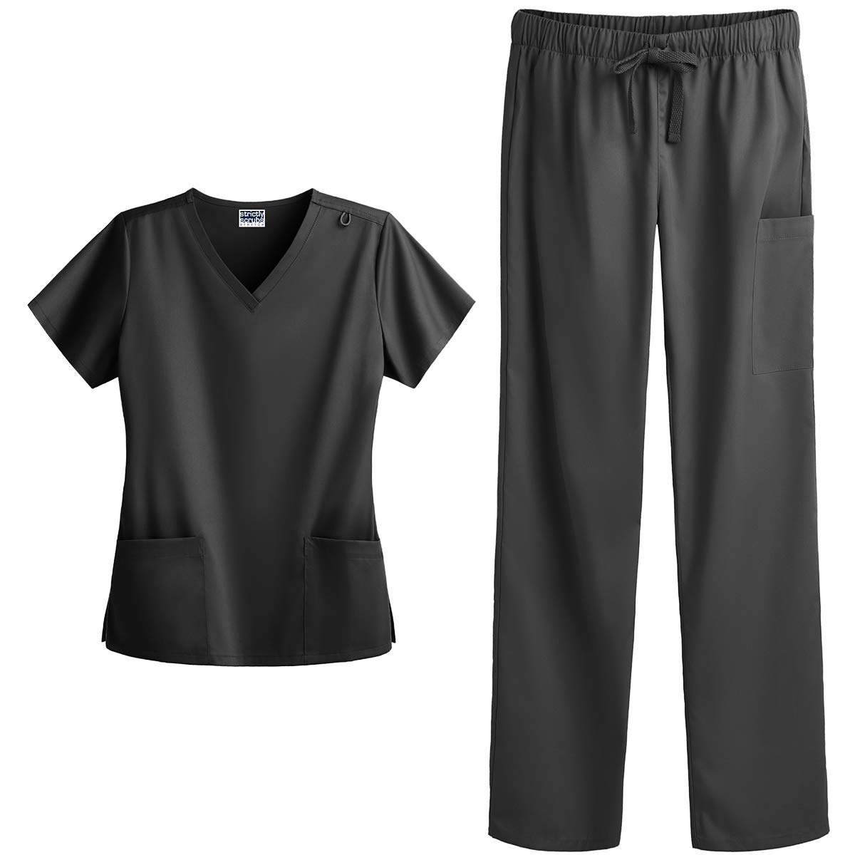 Strictly Scrubs Women's Four Way Stretch Scrub Set - Includes V-Neck Top and Pant