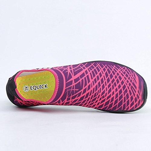 EQUICK Wasserschuhe Aqua Sport Turnschuhe Slip On Schnell Trocknend Für Männer Frauen Kinder Angeln 1b.pink