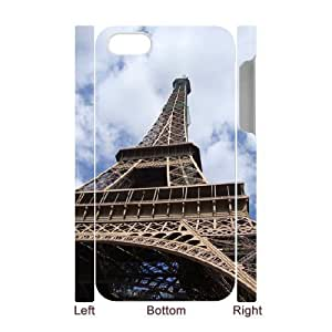 3D IPhone 4/4s Case Eiffel Tower 5, IPhone 4/4s Case Eiffel Tower Protective For Girls, [White] by ruishername