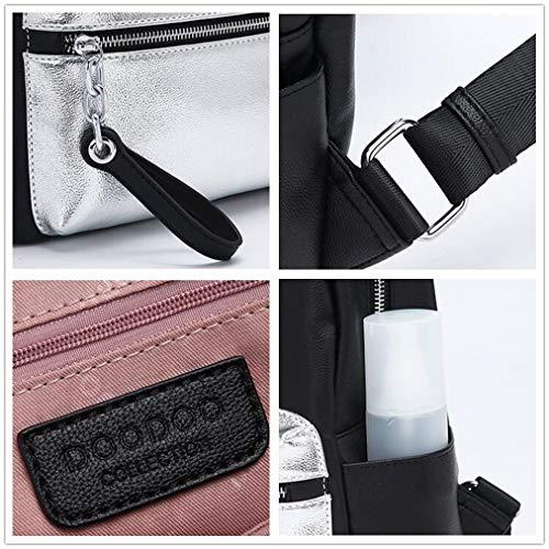 Las Color Bolsa Negro Blanco De Contraste Ocio Capacidad Y Universidad Rrock Compras Viaje funcional Gran Moda Salvaje Mochila Mujeres Entretenimiento Multi qPEOEg
