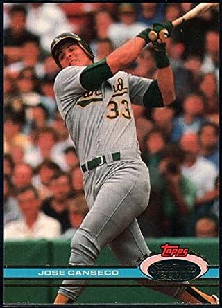 5396788dbc7 Baseball MLB 1991 Stadium Club  155 Jose Canseco  155 NM Near Mint Athletics