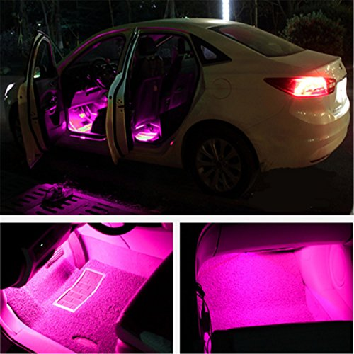 4pcs interior atmosphere neon lights strip for car auto. Black Bedroom Furniture Sets. Home Design Ideas