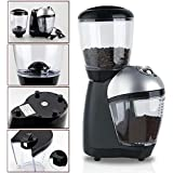 110V 220V Premium Home Electric Italian Coffee Grinder Mills Muller Machine With Anti-skid Rubber Feet Plastic Body Bean Container Cover Powder Cup For Grinding Coffee Beans (110V, Normal)