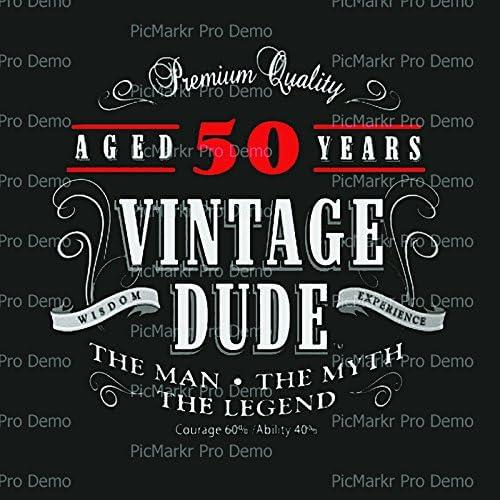 Fantastic Amazon Com Vintage Dude 50Th Birthday With Black Background Funny Birthday Cards Online Alyptdamsfinfo