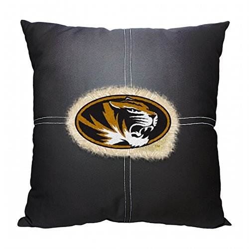 """Officially Licensed NCAA Missouri Tigers Letterman Pillow, 18"""" x 18"""""""