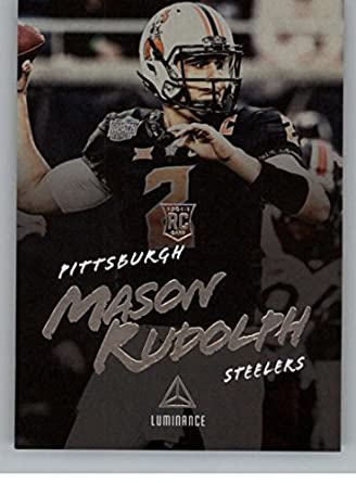 9975ee5fb 2018 Panini Luminance  169 Mason Rudolph Pittsburgh Steelers Rookie RC NFL  Football Trading Card