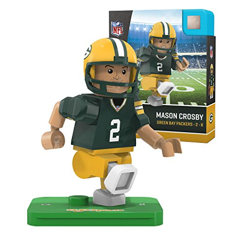 NFL Green Bay Packers Gen4 Limited Edition Mason Crosby Mini Figure, Small, White by OYO