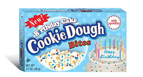 Taste of Nature Inc. Birthday Cake Cookie Dough Bites 3.1 Ounce Boxes (Pack of 30)