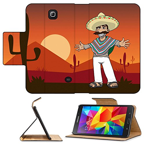 [Luxlady Premium Samsung Galaxy Tab 4 7.0 Inch Flip Pu Leather Wallet Case IMAGE ID: 25439108 Mexican Cartoon Character standing in the desert at] (Gumdrop Costume Ideas)