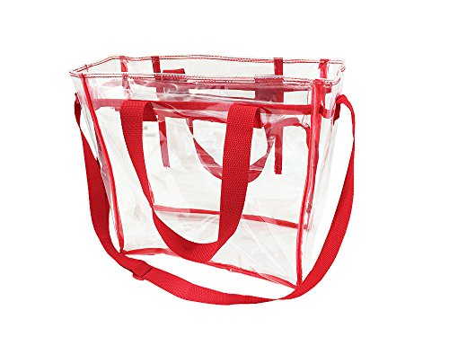 Nova Sport Wear Bag with Handles / Adjustable Strap Transparent Gameday Tote, 12 x 12 x 6 Inch - - San Shops Francisco Airport