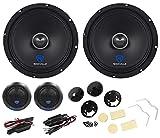 "Pair Rockville 8"" Component Car Speakers w/Kevlar Cones+Silk Dome Neo Tweeters"