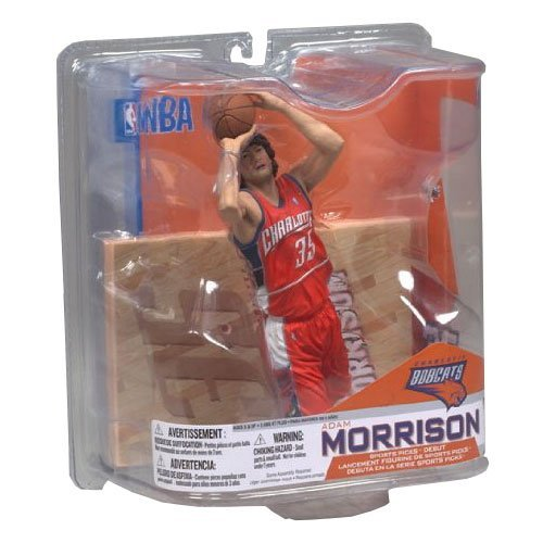 NBA Series 14: Charlotte Bobcats - Adam Morrison- Orange Jersey (Charlotte Bobcats Jersey)
