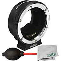 Metabones Canon EF/EF-S Lens to Sony E Mount T Smart Adapter MB_EF-E-BT5 (Fifth Generation) with Dust Blower + Microfiber Cleaning Cloth