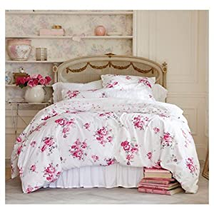 Simply Shabby Chic Pink Sunbleached Floral Duvet Set Twin