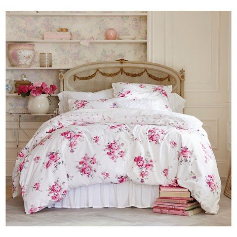 Simply Shabby Chic Pink Sunbleached Floral Duvet Set (Twin)