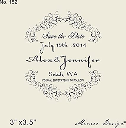 buy generic save the date stamp custom rubber stamp custom wedding