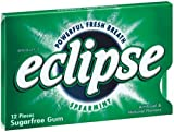 Eclipse Spearmint Sugarfree Gum, 12-Piece Package (Pack of 24)