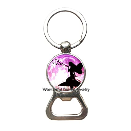 Amazon.com   Butterfly and Logo Key Ring Bottle openers Keychain ... 251a7f481c