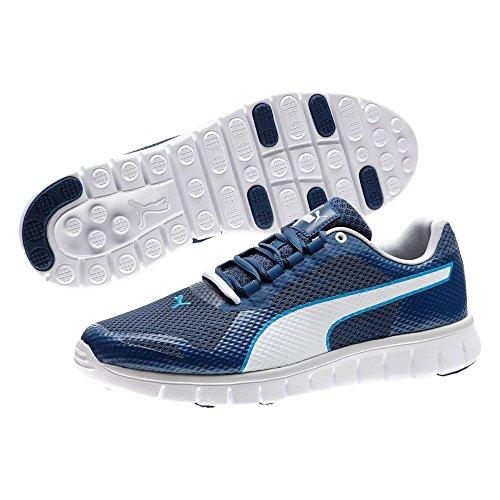 PUMA 188385 Mens Puma Blur Shoe,Poseidon/White/Gray Violet -