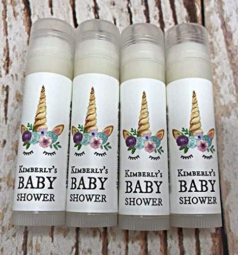 15 Unicorn Lip Balm Favors - Bridal Shower Favors - Unicorn Baby Shower Favors - Unicorn Birthday Favors - Personalized Party Favors - Kids' Party Favors - Unicorn Favors