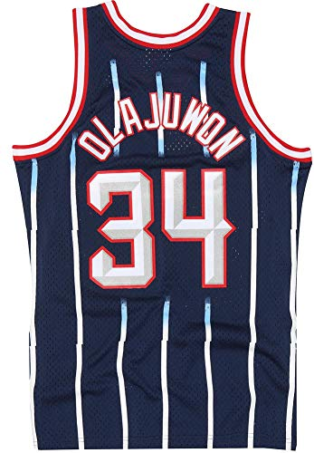 Mitchell & Ness Hakeem Olajuwon 1996-97 Houston Rockets Replica Swingman NBA Jersey HWC Basketball Trikot Blue