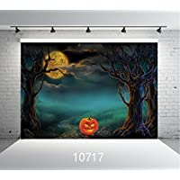 SJOLOON Halloween Backdrop 7X5ft Vinyl Photography Customized Photo Background Studio Prop 10717