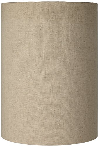 Shade Brentwood Collection - Cotton Blend Tan Cylinder Shade 8x8x11 (Spider)