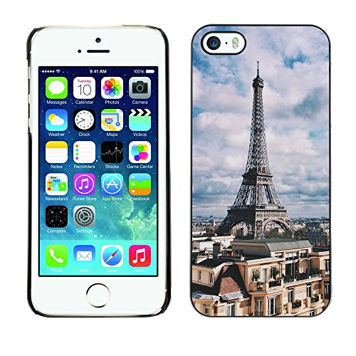 Premio Sottile Slim Cassa Custodia Case Cover Shell // F00017322 tour Eiffel // Apple iPhone 5 5S 5G
