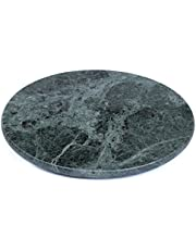 Creative Home Natural Green Marble 8 Inches Round Trivet, Cheese Board, Diameter