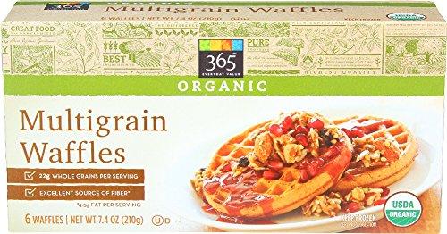 365 Everyday Value, Organic Multigrain Waffles, 7.4 oz, (Frozen)