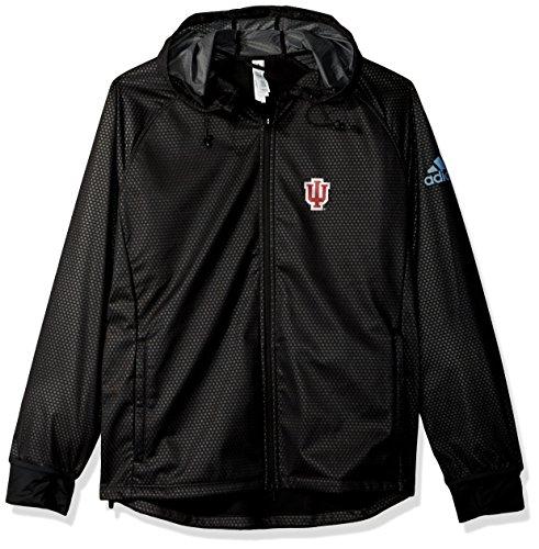 adidas NCAA Indiana Hoosiers Adult Women Team Logo Climastorm Full Zip Jacket, Large, Black