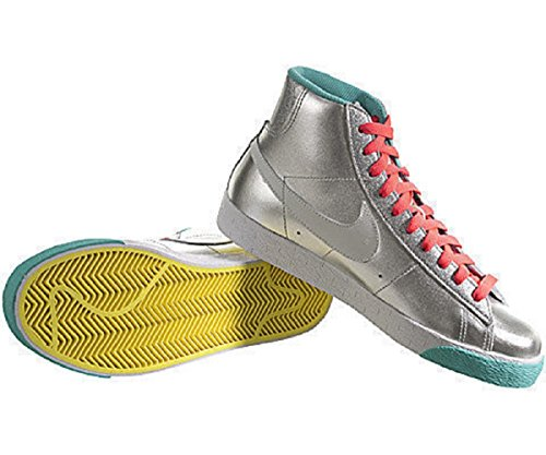 Nike Womens Blazer High Metallic Silver/White US 12 M 40HNWElRNk