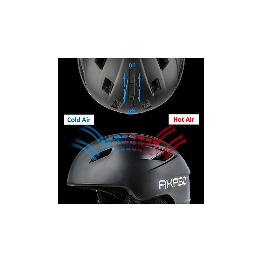 AKASO Ski Helmet Venting, Fleece Lined, Adjustable, Lightweight Snow Helmet for Unisex Adult
