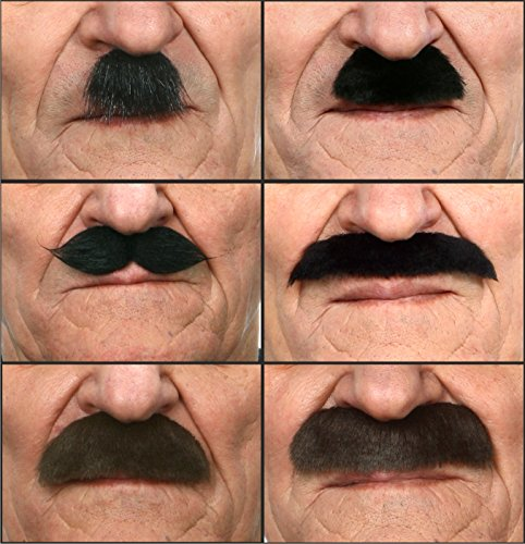 [Mustaches party mix (6pcs.)] (High Quality Adult Costumes)