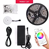 sanwo WiFi Wireless Smart Phone Control Light Strip Kit, 32.8ft 600LEDS 5050RGB Waterproof IP65 LED Lights, Support for Android 、iOS and Alexa (WiFi Control)