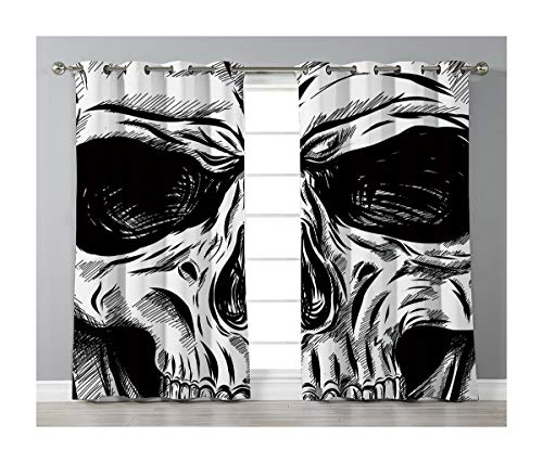 Goods247 Blackout Curtains,Grommets Panels Printed Curtains for Living Room (Set of 2 Panels,55 by 84 Inch Length),Halloween -