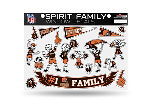 Licensed NFL Cleveland Browns #1 Fan Family Window Stickers/Decals (Browns Family Decal compare prices)