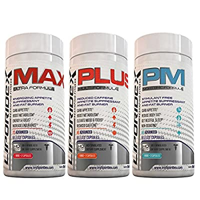 Weight Loss Supplement Combo Stack, Thermogenic Fat Burner & Appetite Suppressant Weight Loss Stack - LIPORIDEX SYSTÉME1 Combo-StakTM - BEST VALUE Diet Combo Kit and Fat Loss Supplement Stack. Save and Lose More Now