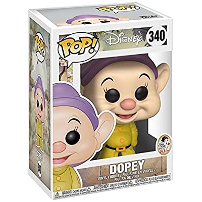 Disney: Snow White and The Seven Dwarfs - Dopey Funko Pop! Vinyl Figure (Includes Compatible Pop Box Protector Case): Toys & Games