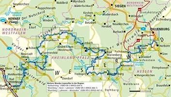 Westerwald Karte.Westerwald Steig Leporello Wanderkarte Mit Ausflugszielen
