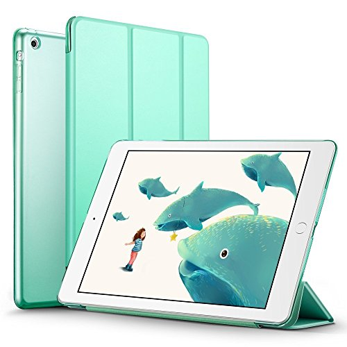 iPad Mini 2 Case, ESR iPad Mini Smart Case Cover [Synthetic Leather] Translucent Frosted Back Magnetic Cover with Sleep/Wake Function for iPad Mini 1/2/3 (Mint - Apple Green Cover Ipad Smart Mini