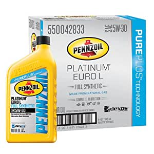 Pennzoil 550042833 6pk platinum euro l full for Pennzoil platinum 5w 20 synthetic motor oil