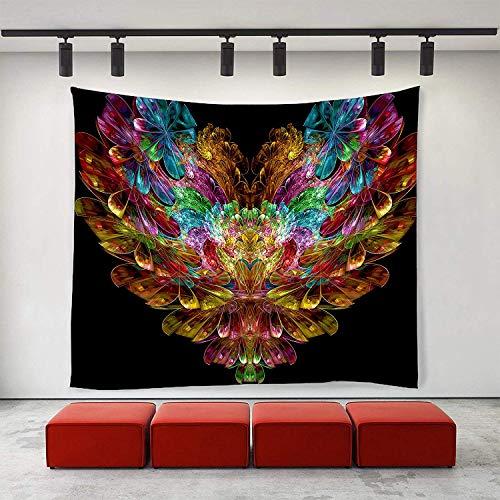 (YGYMRRI Wall Tapestry Wall Art Tie Dye Flower Love Heart Tapestries Hippie Art Tapestry Wall Hanging Adults Kids' Room Decoration Wall Blanket)